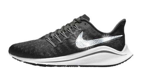 Women's Nike Air Zoom Vomero 14 + Crystals - Black/White/Thunder Grey