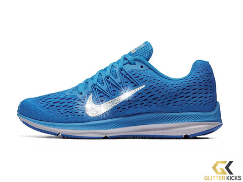 Nike Air Zoom Winflo 5 + Crystals - Blue Glow