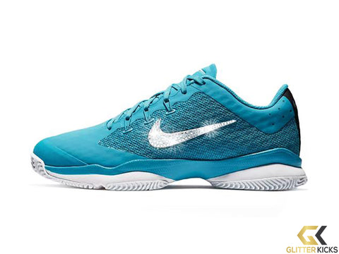 CLEARANCE - Nike Court Air Zoom Ultra Hard Court + Crystals - Light Blue Fury - Size 7