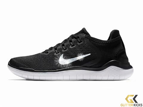 Nike Free RN 2018 + Crystals - Black/White