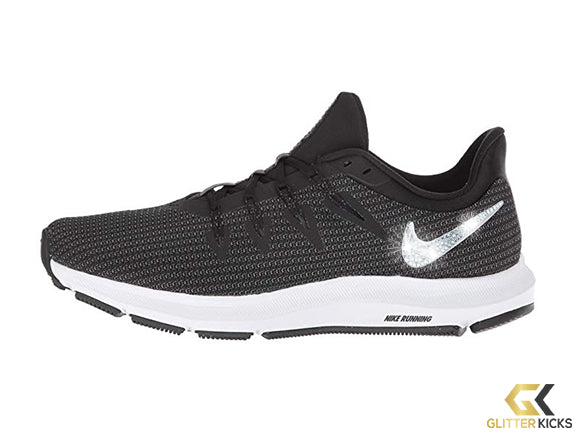 Nike Quest + Crystals - Black/Metallic Silver/Dark Grey