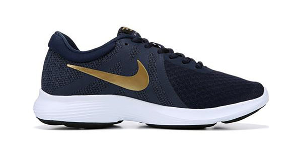 Women's Nike Revolution 4 + Crystals - Obsidian/Gold