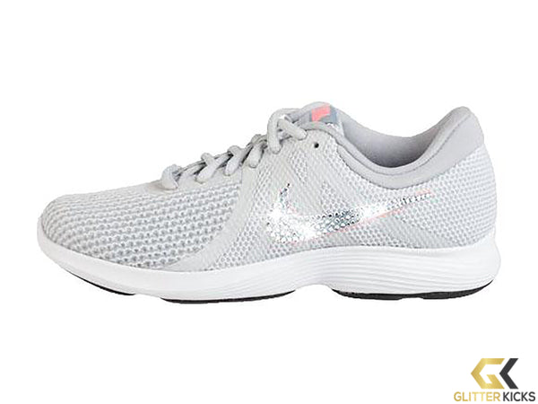 Women's Nike Revolution 4 + Crystals - Grey