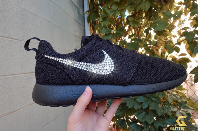 Clearance - Nike Roshe One + Crystals - Triple Black - Mens sz 8.5 = W10