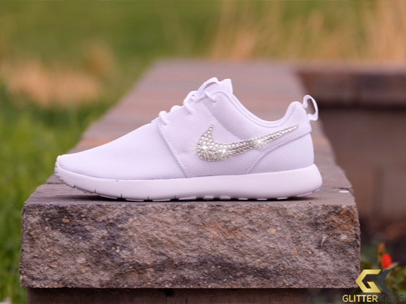 Women's Nike Roshe One + Crystals - White