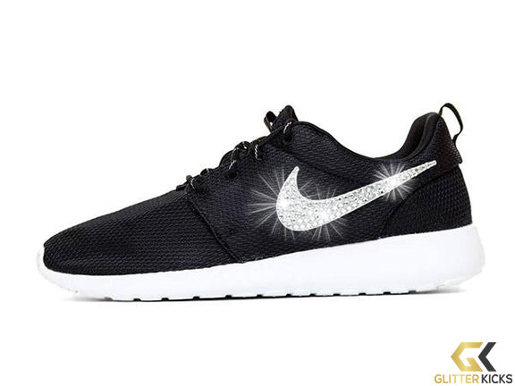 sports shoes 8aee7 67e35 Women s Nike Roshe One + Crystals -Black White
