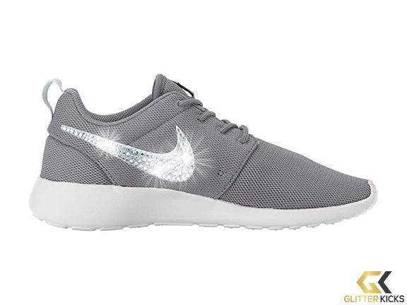 Women's Nike Roshe One + Crystals -Cool Grey/Pure Platinum