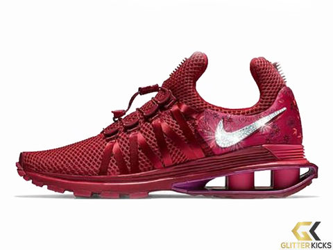 CLEARANCE - Nike Shox Gravity + Crystals - Red Crush - Size 6 bbfc632e4b40