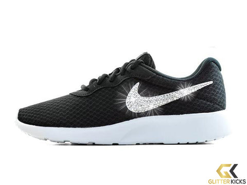 Nike Tanjun + Crystals - Black/White
