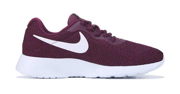 Women's Nike Tanjun + Crystals - Bordeaux and White