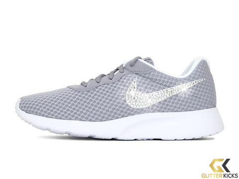SALE - Women's Nike Tanjun + Crystals - Grey