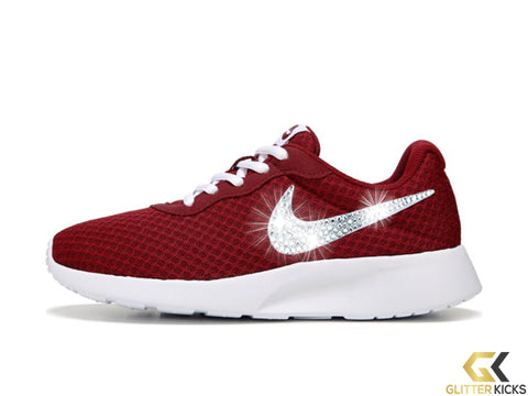 CLEARANCE - Nike Tanjun + Crystals - Red - Size 9
