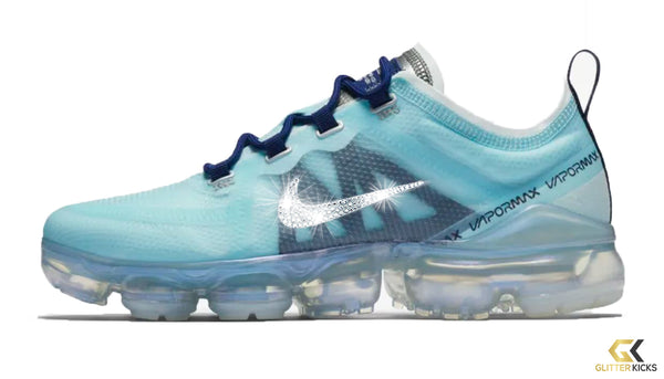 check out 666d9 5c636 Women's Nike Air VaporMax 2019 + Crystals - Teal Tint/ Blue Void