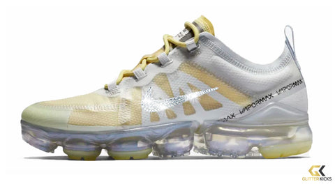Nike Air VaporMax 2019 + Crystals - White  Gold b2f9052370