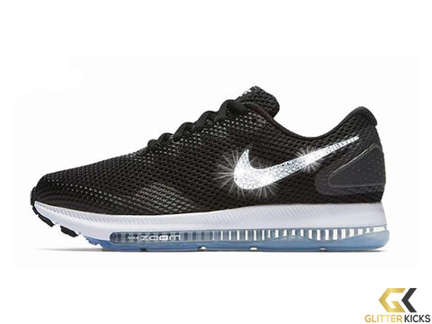 SALE - Nike Zoom All Out Low 2 + Crystals - Black/White - Size 9