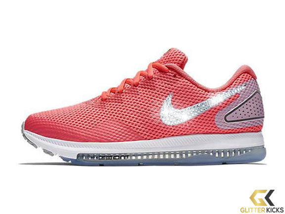 Nike Zoom All Out Low 2 + Crystals - Hot Punch – Glitter Kicks ac060eecd9
