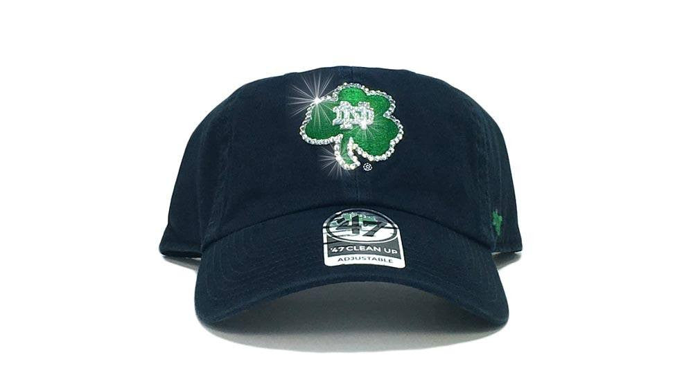 Notre Dame Fightin' Irish '47 Brand Adjustable Cap + Custom Swarovski Crystals