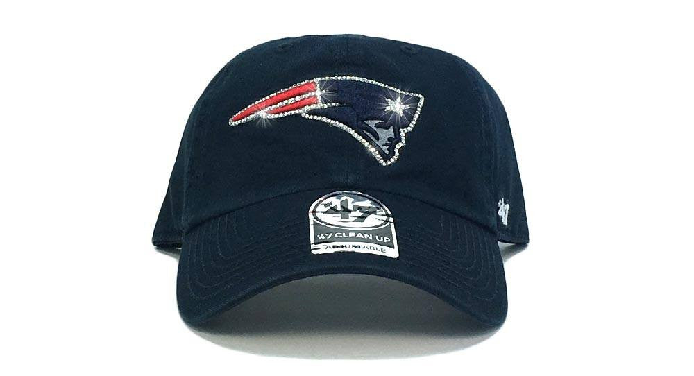 New England Patriots '47 Brand Adjustable Cap + Custom Swarovski Crystals