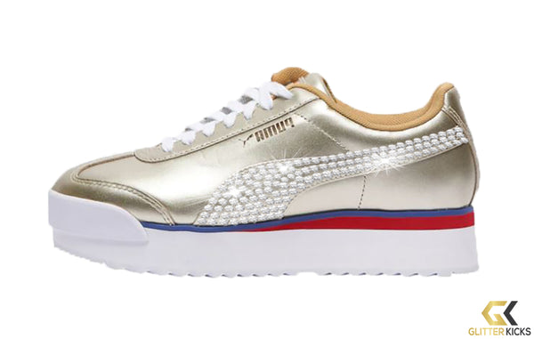 Puma Roma Amor + Crystals - Gold | Mix Metal