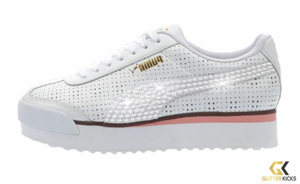 Puma Roma Amor + Crystals - White/Pink | Perf
