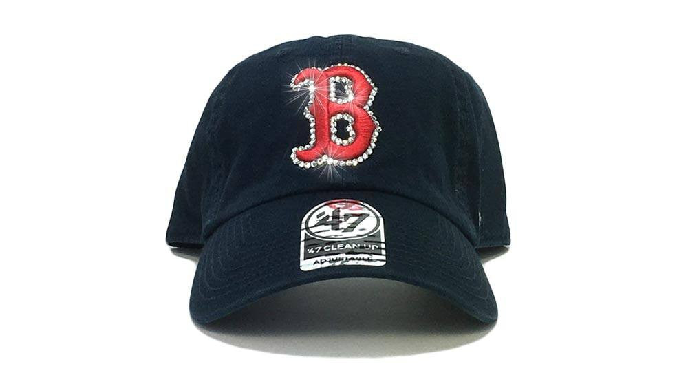 Boston Red Sox '47 Brand Adjustable Cap + Custom Swarovski Crystals
