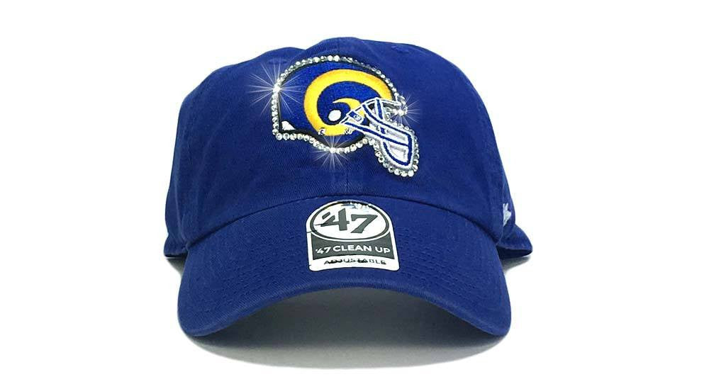 Los Angeles Rams '47 Brand Adjustable Cap + Custom Swarovski Crystals