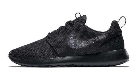 Nike Roshe One + Vinyl Swoosh - Black/Black - 6 Options