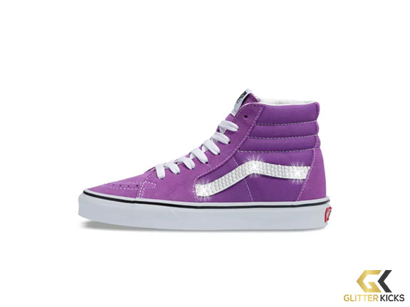 Vans SK8-HI + Crystals - Dewberry/True White