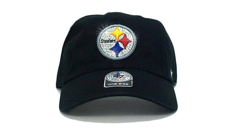 Pittsburgh Steelers '47 Brand Adjustable Cap + Custom Swarovski Crystals