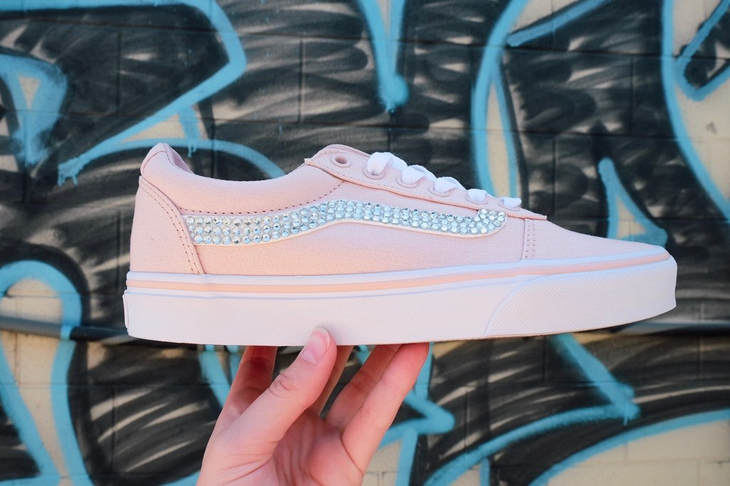 Vans Ward Low Top Sneaker + Crystals - Rose