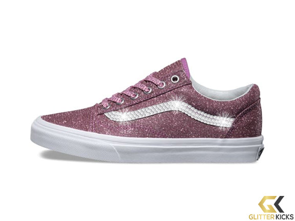 Vans Lurex Glitter Old Skool + Crystals - Pink True White