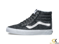 Vans Lurex Glitter SK8-Hi Reissue + Crystals - Black True White