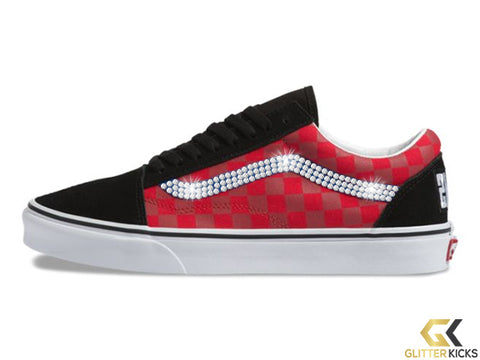 Women's Vans OTW Rally Old Skool + Crystals - Checker/Multi/Black