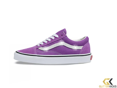 Womens Vans Old Skool + Crystals - Dewberry/True White