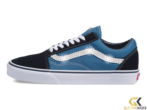 Women's Vans Old Skool + Crystals - Navy