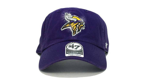 Minnesota Vikings '47 Brand Adjustable Cap + Custom Swarovski Crystals
