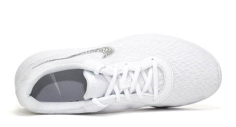 Girls' Nike Tanjun - Swarovski Crystal Swoosh - White - Big Kids' (3.5y-7y)