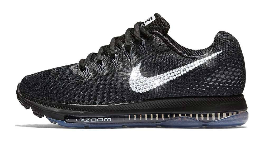 Nike Zoom All Out Low + Swarovski Crystal Swoosh - Black