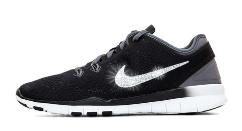Nike Free Run TR Fit 5 - Crystallized Swarovski Swoosh - Glitter Kicks