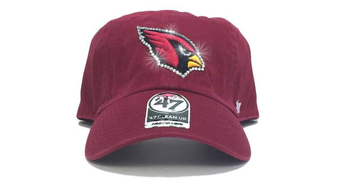 Arizona Cardinals '47 Brand Adjustable Cap + Custom Swarovski Crystals