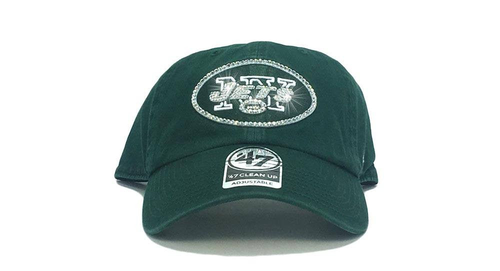 New York Jets '47 Brand Adjustable Cap + Custom Swarovski Crystals