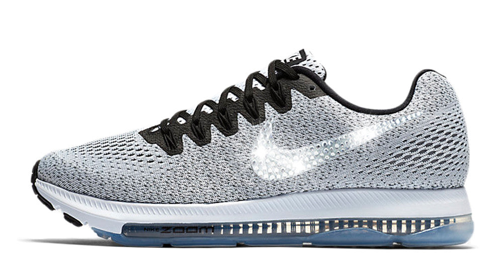 ... Nike Zoom All Out Low + Swarovski Crystal Swoosh - Light Gray ... 41a344ab89