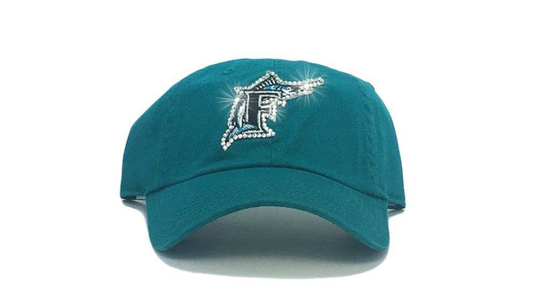SALE - Miami Marlins (Florida Throwback) '47 Brand Adjustable Cap + Crystals