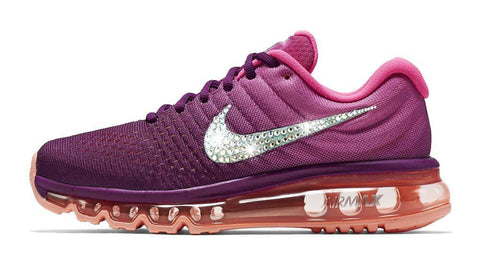Nike Air Max 2017 + Swarovski Crystal Swoosh - Grape/Pink