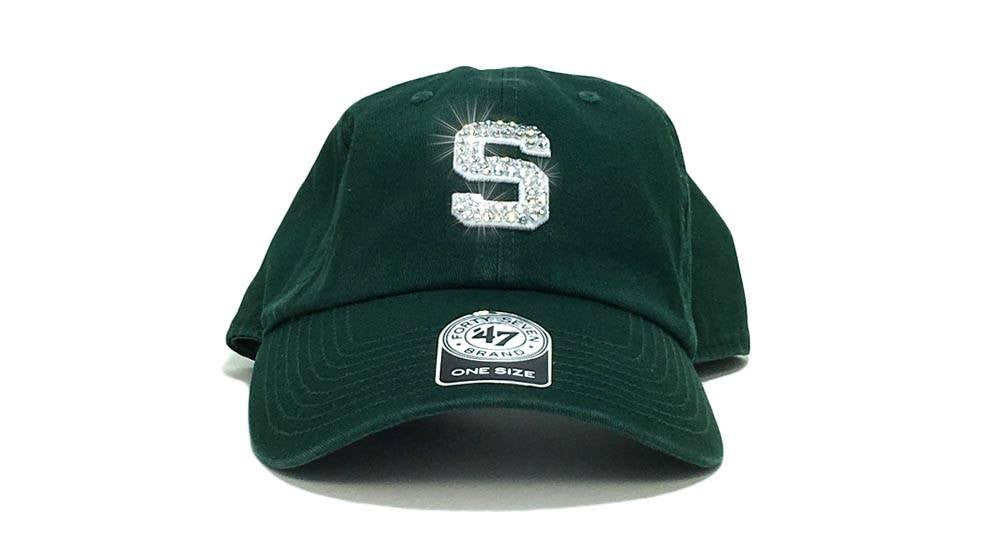 Michigan State Spartans '47 Brand Adjustable Cap + Custom Swarovski Crystals