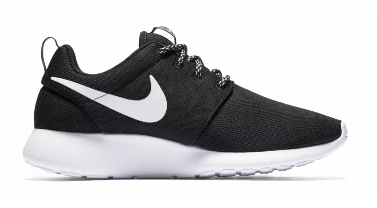 Nike Roshe One + Crystals -Black White – Glitter Kicks 967f7f387