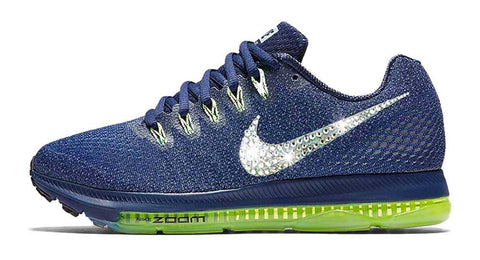 Nike Zoom All Out Low + Swarovski Crystal Swoosh - Navy