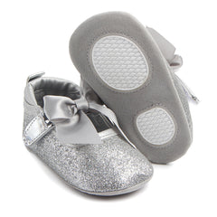 Fashion Baby Girl Soft Sole Bling Bowknot Anti-slip Princess Shoes