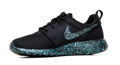 Nike Roshe One Customized by Glitter Kicks - 'Mint Oreo' Black/Mint Green Paint Speckle - Glitter Kicks - 4