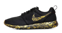 Nike Roshe One - Gold Paint Color Splatter - Glitter Kicks